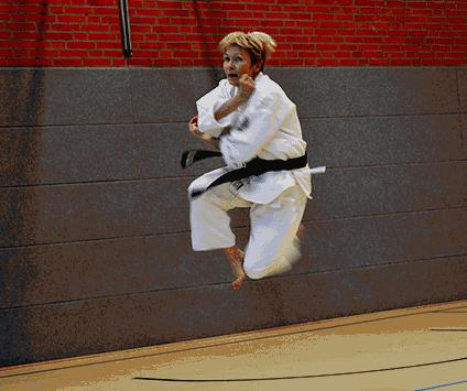 Ryoku Shin Do Karate frau sprung klein